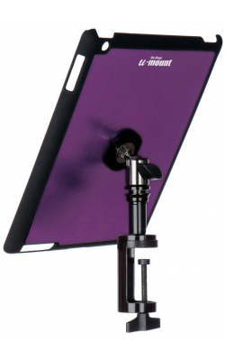 TCM9163P - iPad® Snap-On™ Cover w/ Table Clamp, Purple