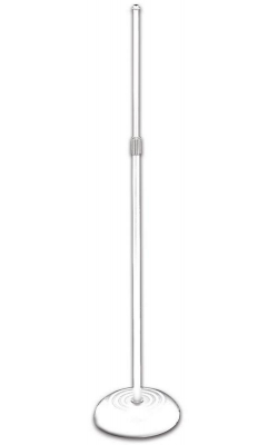 MS7201QTRW - Quarter-Turn Round Base Microphone Stand (White)
