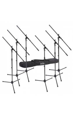 MSP7706 - 6 Euroboom Mic Stands w/ Bag