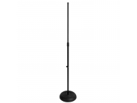 MS7201B - Round Base Mic Stand, Black