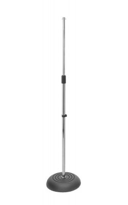 MS7201C - Round Base Mic Stand (Chrome)