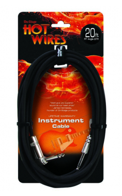 IC-20R - Instrument Cable (QTR Right Angle-QTR, 20')