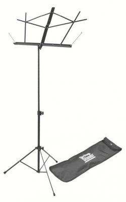 SM7122BB - Compact Sheet Music Stand (Black, w/ Bag)