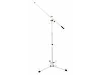 MS7801W - Euro Boom Microphone Stand (White)