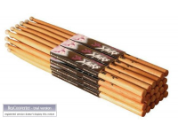 AHN7A - American Hickory Drum Sticks (7A, Nylon Tip, 12pr)