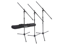 MSP7703 - 3 Euroboom Mic Stands w/Bag