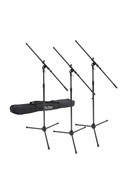 MSP7703 - 3 Euroboom Mic Stands w/ Bag