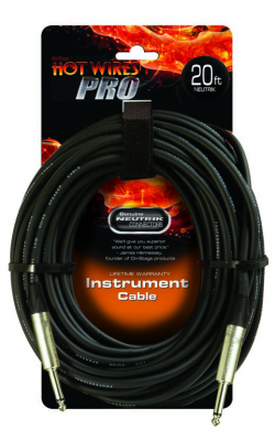 IC-20NN - Instrument Cable w/ Neutrik Connectors (QTR-QTR, 20')