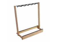 GS7563W - Side-Loading Guitar Rack, natural wood