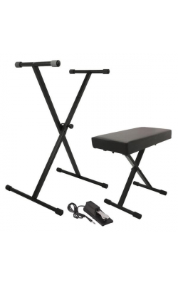 KPK6550 - Keyboard Stand and Bench Pack with Keyboard Sustain Pedal