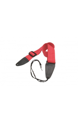 GSA10RD - Guitar Strap with Leather Ends (Red)