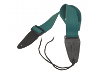 GSA10GE - Guitar Strap with Leather Ends (Green)