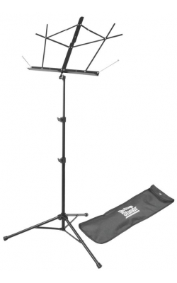 SM7222BB - Tripod Base Sheet Music Stand (Black, w/ Bag)