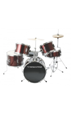 DKJ5500-WR - 5-Piece Junior Drum Set (Wine Red)