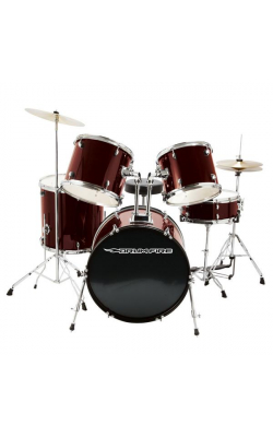 DK7500-WR - 5-Piece Drum Set (Wine Red)