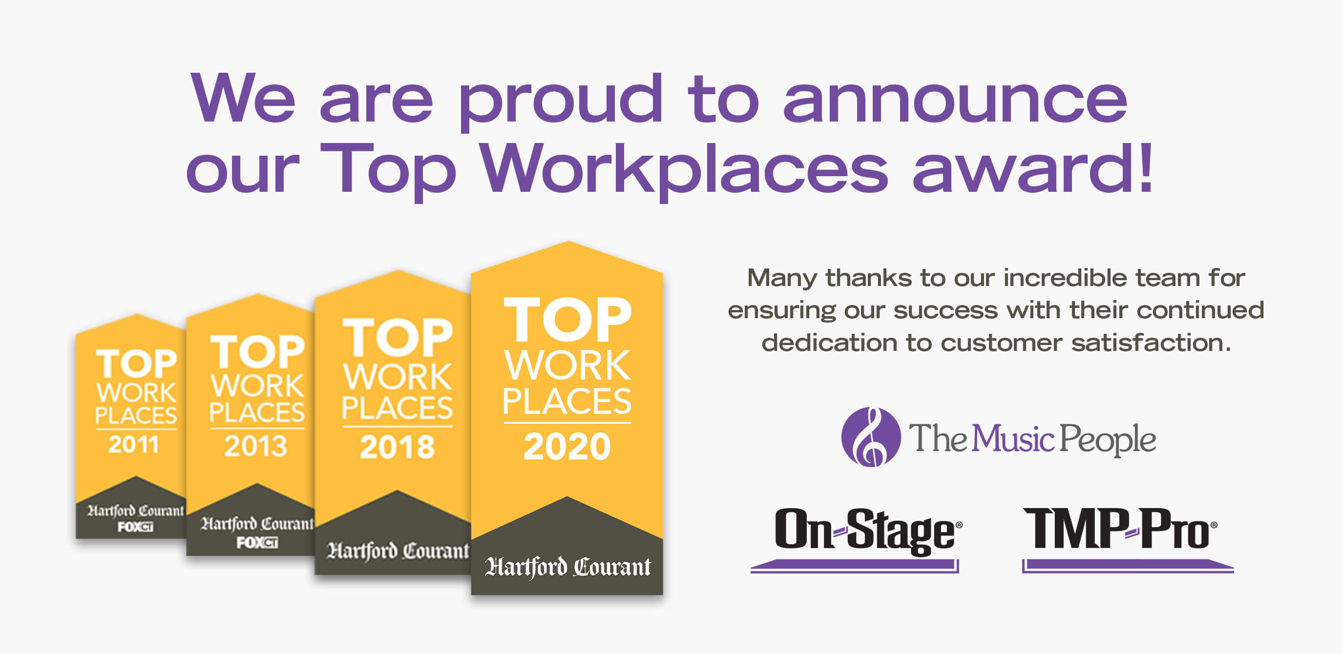 The Music People Recognized as Top Workplace for 2020