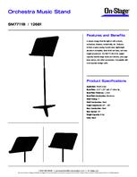 Specsheet for Item# 12681 Model#SM7711B